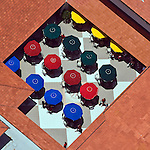 Surf Club; Ponte Vedra Inn & Club; Florida; colored umbrellas