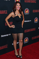 """HOLLYWOOD, LOS ANGELES, CA, USA - MARCH 20: Raquel Cordova, RAC-Q at the Los Angeles Premiere Of Pantelion Films And Participant Media's """"Cesar Chavez"""" held at TCL Chinese Theatre on March 20, 2014 in Hollywood, Los Angeles, California, United States. (Photo by David Acosta/Celebrity Monitor)"""