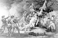 The death of General Montgomery at Quebec. Engraving by W. Ketterlinus. 1808, from painting by John Trumbull