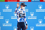 Romain Bardet (FRA) Team DSM retains the mountains Polka Dot Jersey at the end of Stage 17 of La Vuelta d'Espana 2021, running 185.8km from Unquera to Lagos de Covadonga, Spain. 1st September 2021.    <br /> Picture: Luis Angel Gomez/Photogomezsport   Cyclefile<br /> <br /> All photos usage must carry mandatory copyright credit (© Cyclefile   Luis Angel Gomez/Photogomezsport)