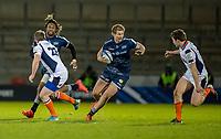 19th December 2020; AJ Bell Stadium, Salford, Lancashire, England; European Champions Cup Rugby, Sale Sharks versus Edinburgh;   Rob du Preez of Sale Sharks  takes on the Edinburgh defensive line
