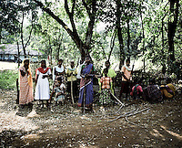 On 2 January 2006, the police in Kalinganagar opened fire on a group of tribals protesting against Tata's constructon of a steel plant on their land without having paid them adequate compensation. The killing of 12 villagers shocked the whole nation and all but paralysed the state government over the land issue. Armed with bows and arrows, the villagers keep a tight vigil at the entrance of their village to stop company officials or police entering their land.