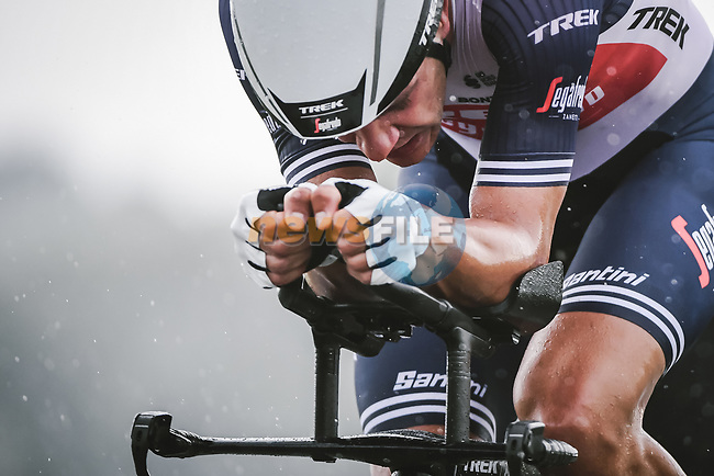 Jasper Stuyven (BEL) Trek-Segafredo in action during Stage 5 of the 2021 Tour de France, an individual time trial running 27.2km from Change to Laval, France. 30th June 2021.  <br /> Picture: A.S.O./Pauline Ballet | Cyclefile<br /> <br /> All photos usage must carry mandatory copyright credit (© Cyclefile | A.S.O./Pauline Ballet)