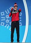 Mark Arendz, PyeongChang 2018 - Para Nordic Skiing // Ski paranordique.<br /> Mark Arendz collects his bronze medal in the men's biathlon 12.5km standing // Mark Arendz remporte sa médaille de bronze au biathlon masculin 12,5 km debout. 13/03/2018.