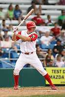 July 4th 2008:  Outfielder Brandon Haislet of the Williamsport Crosscutters, Class-A affiliate of the Philadelphia Phillies, during a game at Bowman Field in Williamsport, PA.  Photo by:  Mike Janes/Four Seam Images