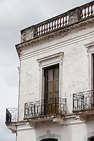 Uruguay, Colonia del Sacramento, Ornate balcony, Historic District