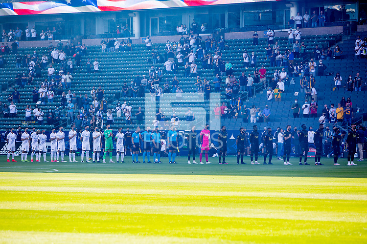 CARSON, CA - MAY 8: LA Galaxy and LAFC during a game between Los Angeles FC and Los Angeles Galaxy at Dignity Health Sports Park on May 8, 2021 in Carson, California.