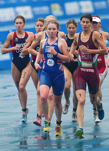 10 SEP 2011 - BEIJING, CHN - Non Stanford (GBR) (centre) - Under 23 Women's 2011 ITU World Triathlon Championships .(PHOTO (C) NIGEL FARROW)