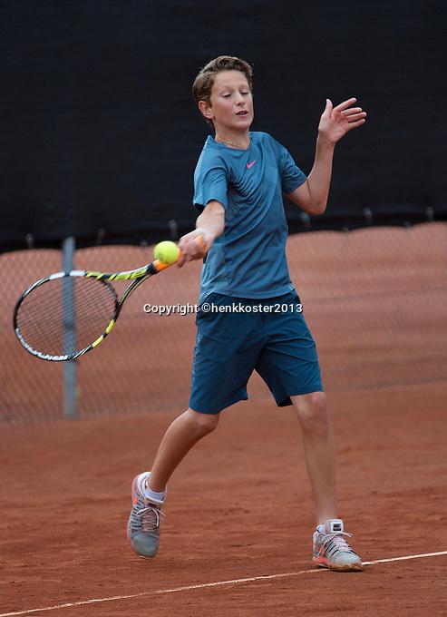 07-08-13, Netherlands, Rotterdam,  TV Victoria, Tennis, NJK 2013, National Junior Tennis Championships 2013, Jasper van Kleef<br /> <br /> <br /> Photo: Henk Koster