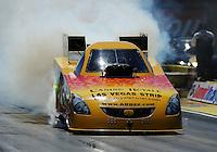 Apr. 1, 2011; Las Vegas, NV, USA: NHRA funny car driver Bob Bode during qualifying for the Summitracing.com Nationals at The Strip in Las Vegas. Mandatory Credit: Mark J. Rebilas-