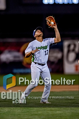 29 August 2019: Vermont Lake Monsters infielder Jordan Diaz gets the first out in the 8th inning during a game against the Connecticut Tigers at Centennial Field in Burlington, Vermont. The Lake Monsters fell to the Tigers 6-2 in the first game of their NY Penn League double-header.  Mandatory Credit: Ed Wolfstein Photo *** RAW (NEF) Image File Available ***