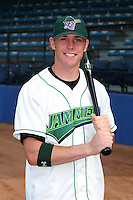 Jamestown Jammers Scott Cousins poses for a photo before a NY-Penn League game at Russell Diethrick Park on July 1, 2006 in Jamestown, New York.  (Mike Janes/Four Seam Images)