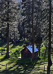 A cabin at a cow camp in the Sierra National Forest, near Oakhurst, Ca., on July 12, 2011..Photo by Cathleen Allison