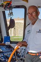 Oklahoma City, Oklahoma, USA.  Oklahoma River Boat Cruise Captain.