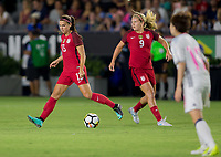 Carson, CA - Thursday August 03, 2017: Alex Morgan, Lindsey Horan during a 2017 Tournament of Nations match between the women's national teams of the United States (USA) and Japan (JAP) at StubHub Center.
