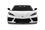 Car photography straight front view of a 2020 Chevrolet Corvette-Stingray 3LT 3 Door Targa Front View