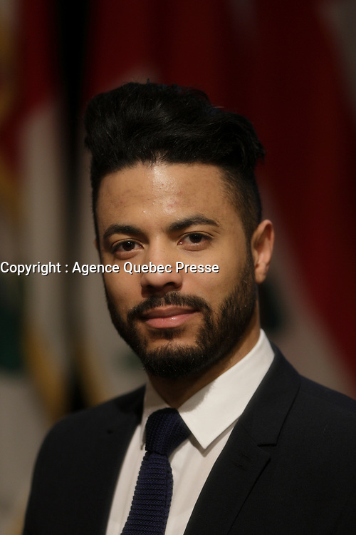 Composer Samy Moussa <br /> attend the unveiling of 2016-2017 program of the Montreal Symphonic Orchestra, March 9,2016 at City hall.<br /> <br /> PHOTO : Pierre Roussel - Agence Quebec Presse