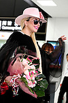 Lady Gaga greets to the cameras upon her arrival at Narita International Airport on November 1, 2016, Chiba, Japan. Gaga returns to Japan for the first time in two years to promote her latest album Joanne. (Photo by Rodrigo Reyes Marin/AFLO)