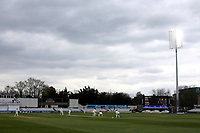 The floodlights in use during Essex CCC vs Worcestershire CCC, LV Insurance County Championship Group 1 Cricket at The Cloudfm County Ground on 8th April 2021