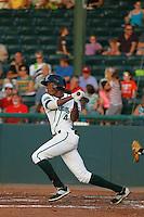 Daytona Tortugas infielder Carlton Daal (4) at bat during a game against the Tampa Yankees at Radiology Associates Field at Jackie Robinson Ballpark on June 13, 2015 in Daytona, Florida. Tampa defeated Daytona 8-6. (Robert Gurganus/Four Seam Images)