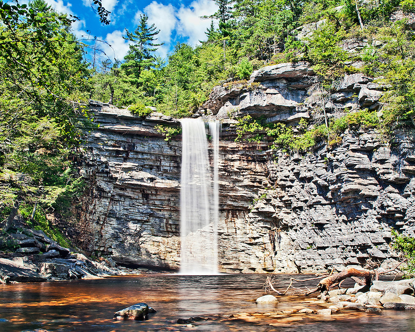Awosting Falls, a 60-foot high waterfall located on the Peter's Kill in the Minnewaska State Park, near New Paltz in Ulster County, New York