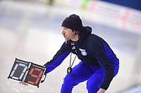 SPEEDSKATING: CALGARY: Olympic Oval, 02-03-2019, ISU World Allround Speed Skating Championships, 5000m Men, Enrico Fabris (coach Italia), ©Fotopersburo Martin de Jong