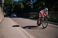 Maciej Bodnar (POL/BORA-hansgrohe)<br /> <br /> MEN ELITE INDIVIDUAL TIME TRIAL<br /> Hall-Wattens to Innsbruck: 52.5 km<br /> <br /> UCI 2018 Road World Championships<br /> Innsbruck - Tirol / Austria