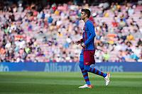 26th September 2021; Nou Camp, Barcelona, Spain: La Liga football, FC Barcelona versus Levante: Gerard Pique of Barcelona