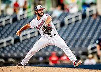 27 February 2019: Washington Nationals pitcher Austen Williams on the mound against the Houston Astros at the Ballpark of the Palm Beaches in West Palm Beach, Florida. The Nationals defeated the Astros 14-8 in their Spring Training Grapefruit League matchup. Mandatory Credit: Ed Wolfstein Photo *** RAW (NEF) Image File Available ***