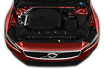 Car stock 2019 Volvo S60 R-Design 4 Door Sedan engine high angle detail view