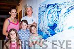 Cliodhna Foley, Ines, Leila, Alexandra and Adrian Mulvihill enjoying the art gallerys  at Kfest in Killorglin on Sunday