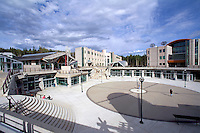 Prince George, BC, British Columbia, Canada - University of Northern British Columbia (UNBC), The Agora Courtyard, Winter Garden, Research Laboratory, and the Geoffrey R. Weller Library