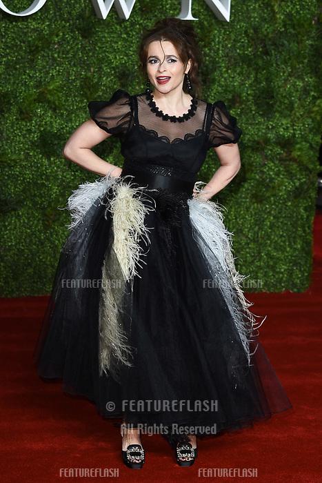 "LONDON, UK. November 13, 2019: Helena Bonham Carter arriving for ""The Crown"" series 3 premiere at the Curzon Mayfair, London.<br /> Picture: Steve Vas/Featureflash"