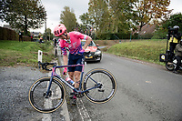 Sep Vanmarcke (BEL/EF) left with a mechanical after a crash incident<br /> <br /> 104th Ronde van Vlaanderen 2020 (1.UWT)<br /> 1 day race from Antwerpen to Oudenaarde (BEL/243km) <br /> <br /> ©kramon