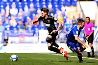 13th September 2020; Portman Road, Ipswich, Suffolk, England, English League One Footballl, Ipswich Town versus Wigan Athletic; Tom Pearce of Wigan Athletic takes on Alan Judge of Ipswich Town