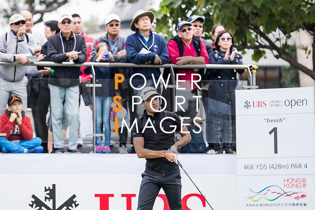 Joakim Lagergren of Sweden reacts during the day three of UBS Hong Kong Open 2017 at the Hong Kong Golf Club on 25 November 2017, in Hong Kong, Hong Kong. Photo by Yu Chun Christopher Wong / Power Sport Images