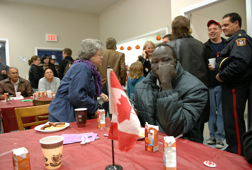 The promise of a free breakfast ensured a fair-sized crowd at the early morning taping of CBC's Live from North Central event at the North Central Family Centre. MARK TAYLOR GALLERY
