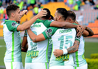 MEDELLIN -COLOMBIA, 20-8-2017.Dairo Moreno jugador de Atlético Nacional  celebra después de anotar un gol a Alianza Petrolera durante partido por la fecha 9 de la Liga Aguila II 2017 jugado en el estadio Atanasio Girardot de la ciudad de Medellín. / Dairo Moreno player of Atletico Nacional celebrates after scoring a goal to Alianza Petrolera  during match for the date 9 of the Aguila League II 2017 played at Atanasio Girardot stadium in Medellin city . Photo:VizzoImage /León Monsalve  / Stringer