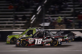 NASCAR Camping World Truck Series<br /> JAG Metals 350<br /> Texas Motor Speedway<br /> Fort Worth, TX USA<br /> Friday 3 November 2017<br /> Kaz Grala, Stealth Chevrolet Silverado, Noah Gragson, Switch Toyota Tundra<br /> World Copyright: John K Harrelson<br /> LAT Images