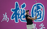 TAOYUAN, TAIWAN - OCTOBER 28:  Pernilla Lindberg of Sweden tees off on the 4th hole during the day four of the Sunrise LPGA Taiwan Championship at the Sunrise Golf Course on October 28, 2012 in Taoyuan, Taiwan.  Photo by Victor Fraile / The Power of Sport Images