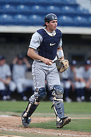 Jarrett Jarvis #16 of the BYU Cougars during a game against the Pepperdine Waves at Eddy D. Field Stadium on April 10, 2014 in Malibu, California. BYU defeated Pepperdine, 1-0. (Larry Goren/Four Seam Images)