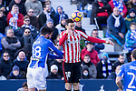 Club Deportivo Leganes's Pablo Insua and Atletic de Bilbao's Aritz Aduriz  during the match of La Liga between Leganes and Athletic Club at Butarque Stadium  in Madrid , Spain. January  14, 2017. (ALTERPHOTOS/Rodrigo Jimenez) <br />  during the match of La Liga between Leganes and Athletic Club at Butarque Stadium  in Madrid , Spain. January  14, 2017. (ALTERPHOTOS/Rodrigo Jimenez)