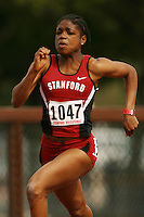 4 April 2007: Sabrina Nettey during the Stanford Invitational at Cobb Track and Angell Field in Stanford, CA.