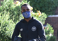 Rico Henry of Brentford, who was sent off in the first leg, but had his red card rescinded, arrives at the ground ahead of kick-off during Brentford vs Swansea City, Sky Bet EFL Championship Play-Off Semi-Final 2nd Leg Football at Griffin Park on 29th July 2020