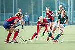 Mannheim, Germany, October 18: During the 1. Bundesliga women fieldhockey match between Mannheimer HC (red) and Uhlenhorst Muelheim (green) on October 18, 2020 at Am Neckarkanal in Mannheim, Germany. Final score 1-0 (HT 0-0). (Copyright Dirk Markgraf / www.265-images.com) *** Katharina Kiefer #21 of Uhlenhorst Muelheim
