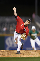 Georgia Bulldogs relief pitcher Blakely Brown (3) in action against the Charlotte 49ers at BB&T Ballpark on March 8, 2016 in Charlotte, North Carolina. The 49ers defeated the Bulldogs 15-4. (Brian Westerholt/Four Seam Images)