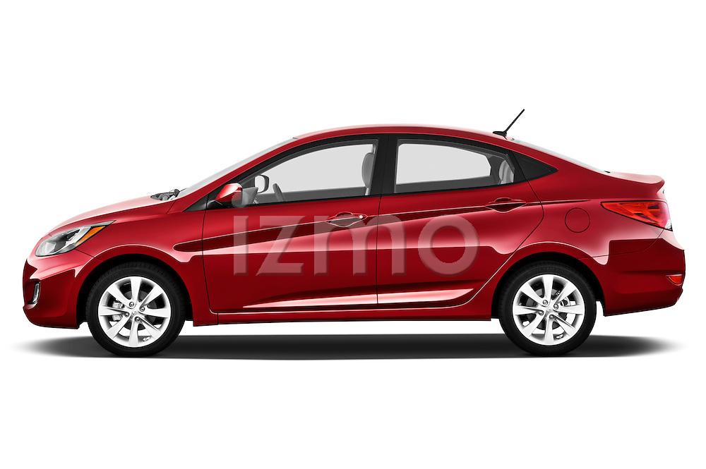 Driver side profile view of a 2012 Hyundai Accent GLS Sedan .