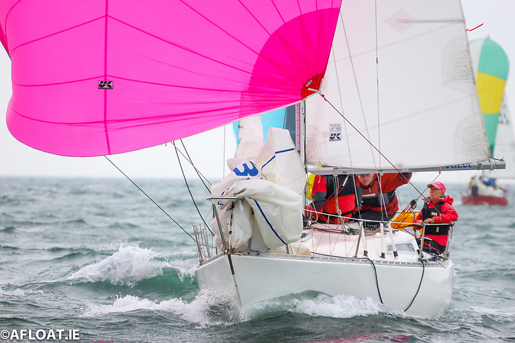 Bandit's new designed S2 spinnaker allows her to reach and run faster