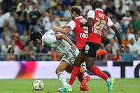 during the XXXVII Bernabeu trophy between Real Madrid and Stade de Reims at the Santiago Bernabeu Stadium. August 15, 2016. (ALTERPHOTOS/Rodrigo Jimenez) /NORTEPHOTO