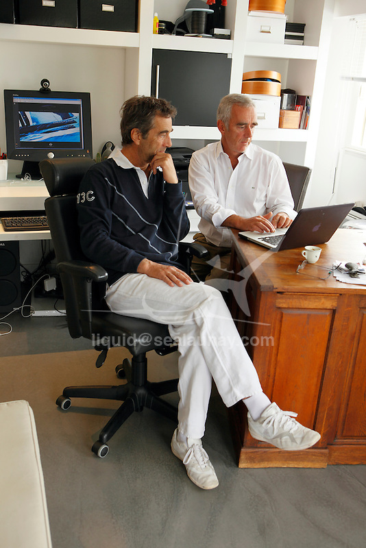 The legendary French multihull specialists, Bruno and Loick Peyron preparing  the challenge for the 34th America's Cup on A Class. Behind the scene footage with Shirley Robertson for Mainsail CNN.